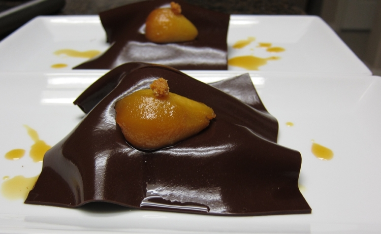 Pear-Genoa Bread-Chocolate Veil
