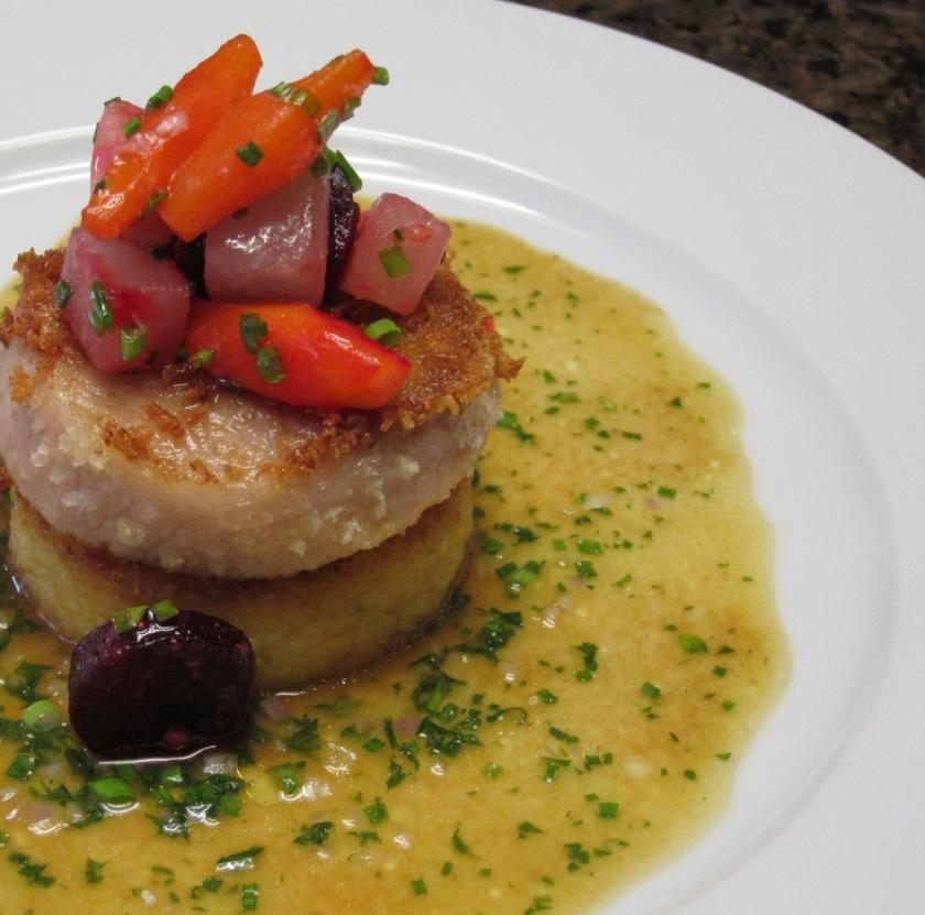 Pork Cheek-Polenta-Glazed Vegetables3