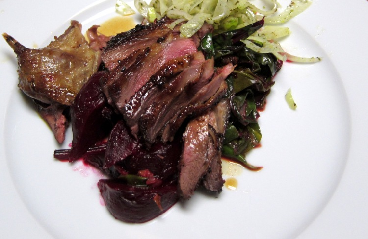Pintail-Beets-Fennel