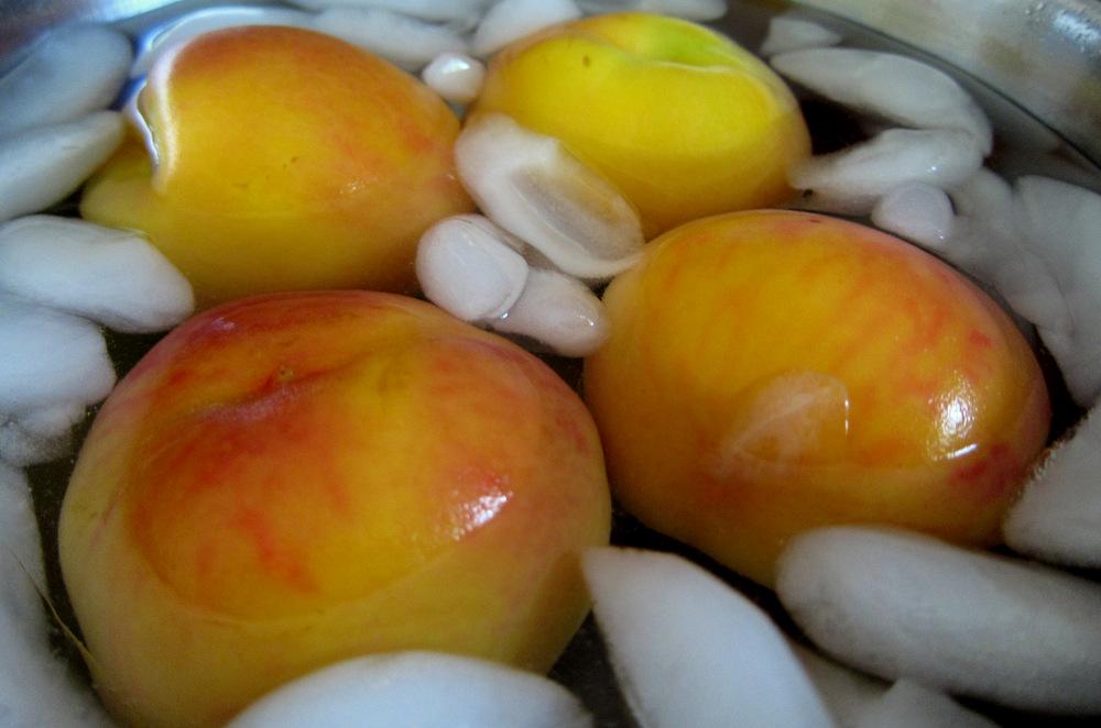 Bourbon-Poached Peaches Recipe — Dishmaps