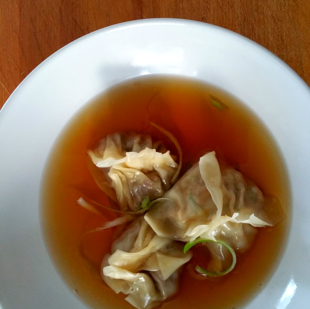 Szechuan Broth-Duck Dumplings