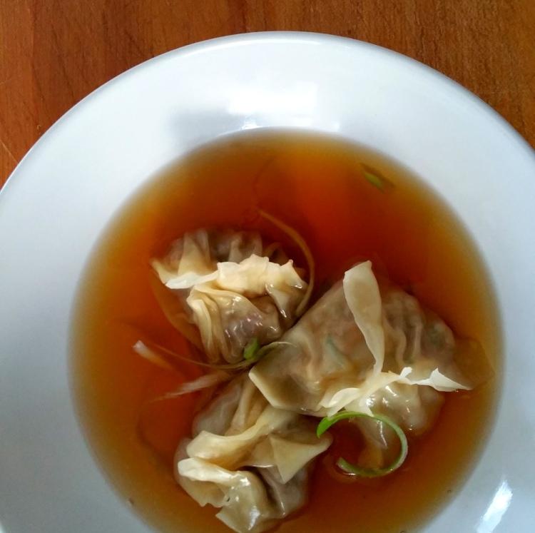 Szechuan Broth-Duck Dumplings