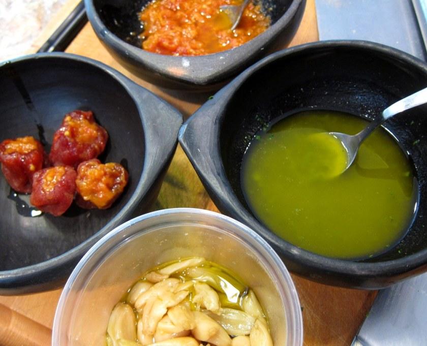 Mugaritz Dried Tomato Salad-Mise