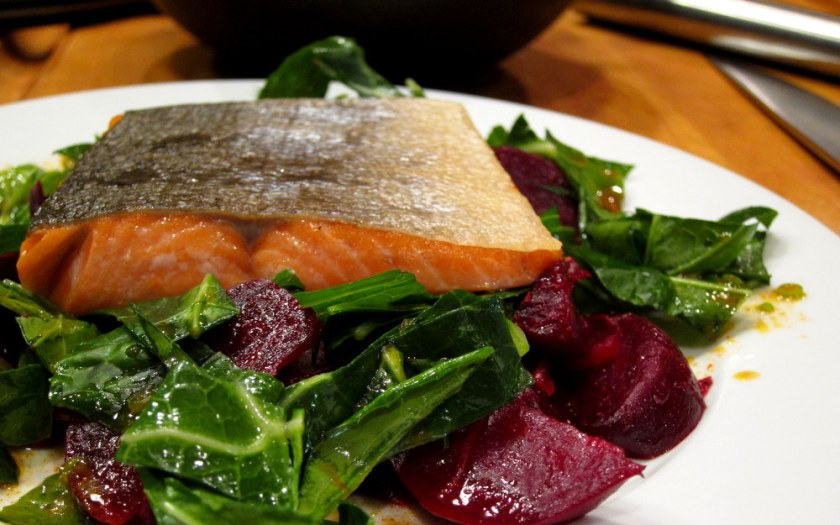 Salmon-Collards-Beets