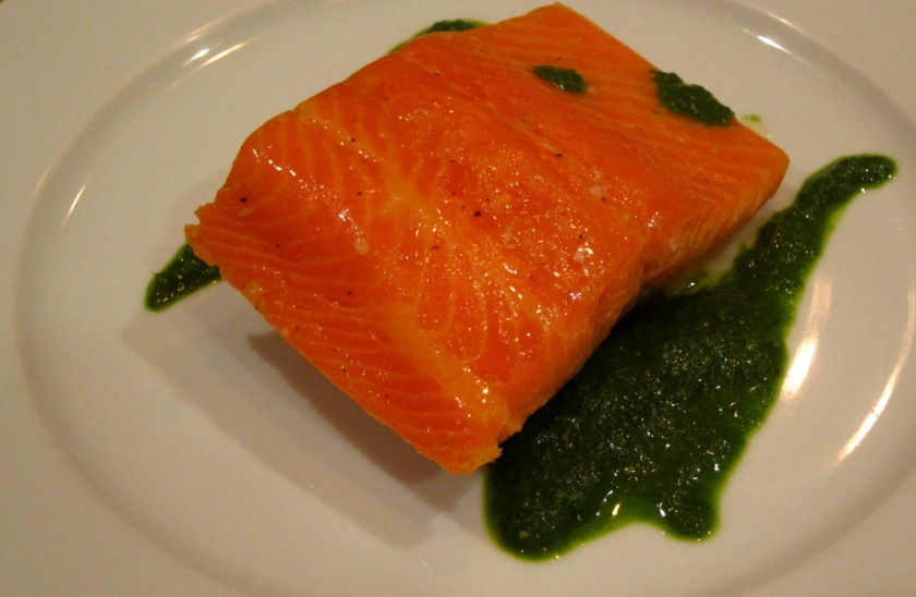 Salmon-Citrus Cure-Coulis