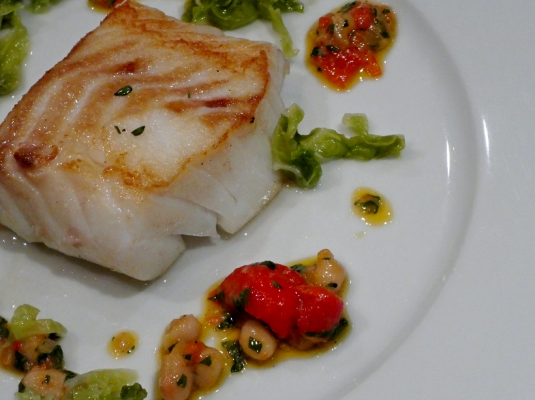 Cod-Beans-Cabbage