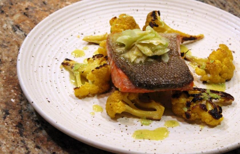 Salmon-Cauliflower